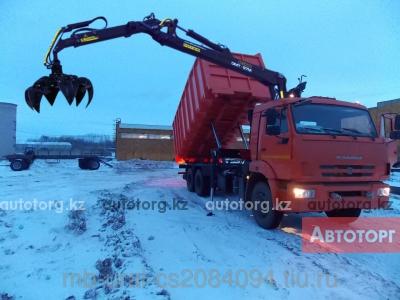 Спецтехника КамАЗ Ломовоз КАМАЗ-65115 с манипулятором ОМТ-97М в Алматы
