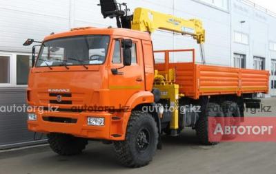 Спецтехника КамАЗ Бортовой автомобиль на шасси КАМАЗ-43118-46 КМУ ИТ-150 в Алматы